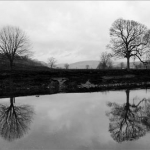 web-inn-at-whitewell-trees-reflection-b-w