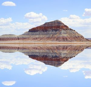 Painted Desert Reflected Digitally Enhance Photograph: Kate Eggleston-Wirtz
